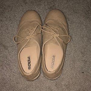 Tan shoes